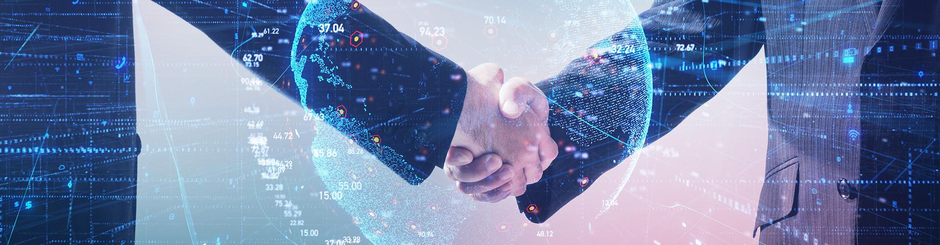 Business partners reaching an agreement